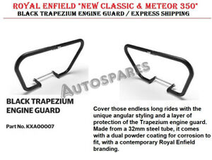 "ROYAL ENFIELD ""NEW CLASSIC & METEOR 350"" BLACK TRAPEZIUM ENGINE GUARD"