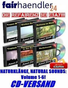 6x Audio CDs: NATÜRLICHE GERÄUSCHE Klänge der Natur Vol. 1-6 Natural Sounds NEU