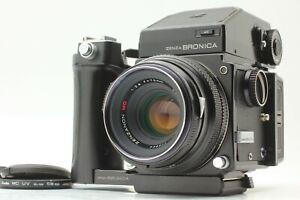 * EXC+5 *ZENZA BRONICA ETR AE-II Finder ZENZANON MC 75mm f/2.8 w/Grip JAPAN