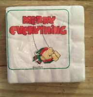 "Vintage 1981 Christmas ZIGGY ""Merry Everything""  Luncheon Napkins Pack Of 16"