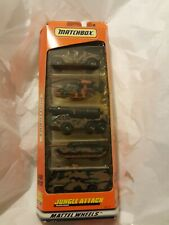 MATCHBOX Jungle Attack 5-pack set dated 1997 inc Hummer, Abrams Tank, 3 others