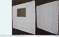 Seitenteile PE Abdeckplane MIT u OHNE Fenster für Pavillon 6 Eck 2x 190 x 195 cm