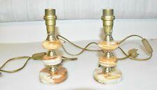2 Schöne Vintage Retro  Marmorlampe Tischlampe Onyxlampe Beistelllampe
