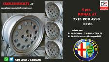 Cerchi lega Alfa Romeo Ronal A1 15 pollici 4x98 33 75 90 145 146 alfasud wheels