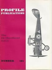PROFILE PUBLICATIONS #181 THE DE HAVILLAND DH5 WWII  MILITARY AIRPLANE PLANE