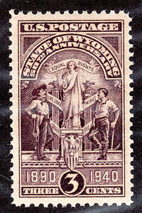 US # 897 (1940) - 3c - MNH - Grade: XF -State of Wyoming 50th Anniversary