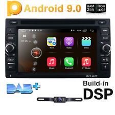 6.2 inch Android 9.0 4G WiFi Double 2DIN Car Radio Stereo DVD Player GPS+Camera~