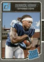 Derrick Henry 2018 Donruss Rated Rookie RC Card #365 Tennessee Titans