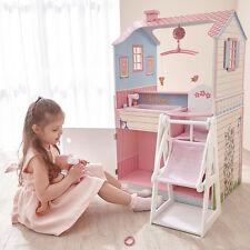 Teamson Kids Double Sided Wooden Dolls Play Nursery House Girls Boys Toy