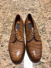 DAVANZATI for Barneys New York Brown Alligator Men's Oxford Shoes