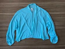 New Chico's light blue cropped cardigan sweater 3