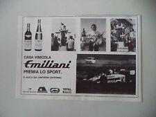 advertising Pubblicità 1980 CASA VINICOLA VINI EMILIANI - S. AGATA SUL SANTERNO