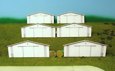 HO scale STEEL BUILDINGS 2 morton style background building flat