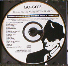 Return To The Valley Of The Go-Go's advance CD 18 tracks promo IRS DPRO-10792