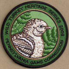"""Pa Pennsylvania Game Commission Wild Turkey Heritage Series 2008 4"""" Chick Patch"""