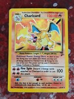 Charizard 4/130 - Pokemon Base Set 2 - Holo - Heavily Played / Creased