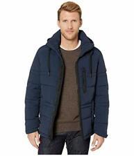 Marc New York Men's Mock Neckline Long Sleeve Huxley Parka Jacket (Blue, XL)