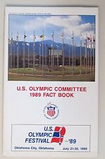 1989 U.S. OLYMPIC COMMITTEE FACT BOOK Press book media guide