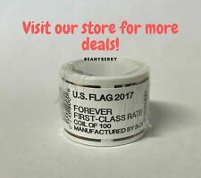 2017 USPS Forever Flag Stamps Coil 100 stamps FREE shipping!