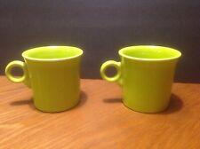 Vintage Fiesta Chartreuse Green Tom & Jerry Ring Handle Mug Homer Laughlin