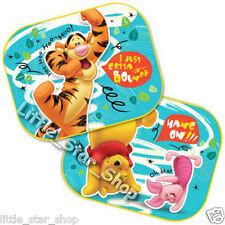 TWO Disney WINNIE THE POOH & TIGER Kids Children Car Window Sun Shades 44x35 cm