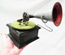 RARE VINTAGE SMALL GERMAN NATL BAND PHONOGRAPH GRAMOPHONE 78 RPM RECORD PLAYER