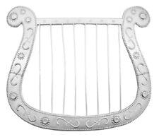 Harfe für Engel oder Troubadix Kostüm - Silber - Zubehör für Mottoparty Karneval