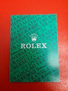 Genuine Vintage Rolex Translation Booklet