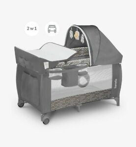 Lionelo Sven Travel Cot+ Changing Mat + Mosquito +Toys+Music +Fast Delivery !!!