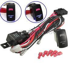 LED Light Bar Work Fog Lamp Rocker Switch Harness Wiring Loom Kit 40A Relay 12v