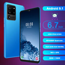 6.7inch Smartphone 4G+64GB Quad-Core Dual Card Face ID Unlocked for Android 9.1