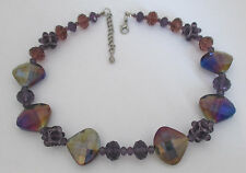 Estate Amethyst Glass Bead Necklace