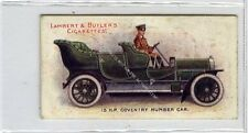 (Ga9740-479) Lambert & Butler, Motors, #3 15HP Coventry Humber 1908 VG+