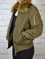 H&M COAT JACKET NEW LADIES KHAKI BOMBER