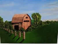 Country Barn (Acrylic painting on Canvas)