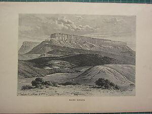c1890 ANTIQUE PRINT ~ MOUNT RORAIMA