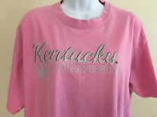 WILDCATS XL University Of Kentucky Pink Basketball College Women's Tee Shirt (B)