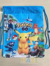 Pokemon Go Pikachu Children Non-Woven Environmental Drawstring Bag Blue