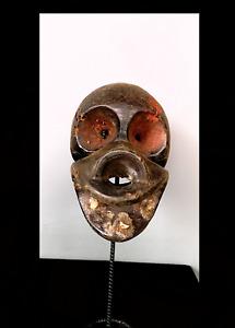 Old Tribal Unusual Bulu Monkey Mask With Real Animal Teeth      --- Cameroon