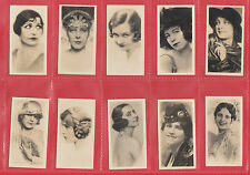 BEAUTIES  -  NOTARAS  - SET OF F 36  NATIONAL  TYPES  OF  BEAUTY  CARDS  -  1925