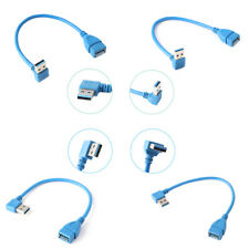 90 Degree Left+Right Angle USB 3.0 Type A Male to Female adapter Extension Cable