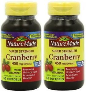 [2-Pack] Nature Made Super Strength, Cranberry (450 Mg Extract) with Vitamin...