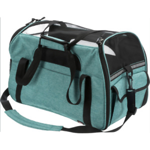 Trixie Madison Pet Carrier With Integrated Short Leash - Green - 25 x 33 x 50 cm