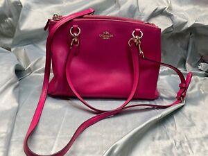 Coach Handbag hot pink leather crossbody