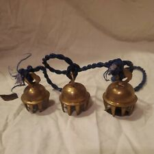 Lot 3 Vintage Elephant Claw Brass Etched Bells