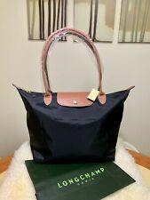 New Longchamp Le Pliage Tote Bag Nylon Large Shopping Handbag Black L