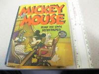 BIG LITTLE BOOK Mickey Mouse Runs Newspaper 1937 high grade Disney comic book