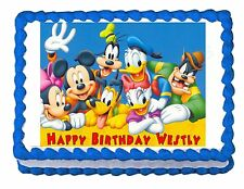 MICKEY MOUSE CLUBHOUSE party decoration edible cake image cake topper