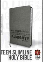 Holy Bible : New Living Translation, Charcoal Psalm 91 LeatherLike, Paperback...
