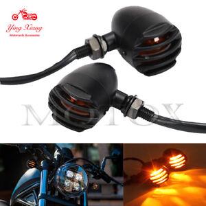 Fit For Suzuki Intruder Volusia VS Retro Bullet Grille Style Turn Signal Light